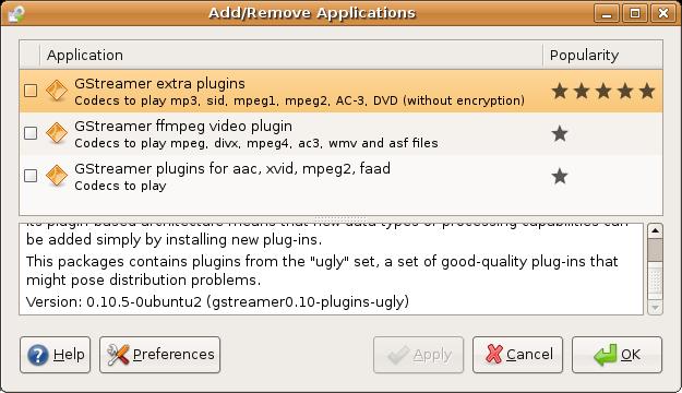 DivX and MP3 Codecs for Ubuntu